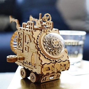 30% offROKR 3D Puzzle Music Box Kit-Hand Crank Musical Model Building Kit