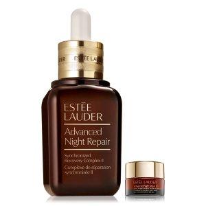 Estee Lauder大瓶装小棕瓶3.9oz+旅行装眼霜0.1oz限量ANR套装