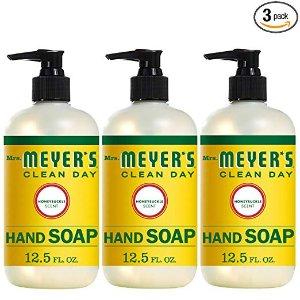 $7.93 包邮Mrs. Meyer's 天然洗手液金银花香味 12.5oz 3瓶