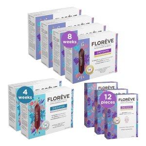 Floreve口服热玛吉 3个月套装 蓝针+ 紫针+ 紫面膜