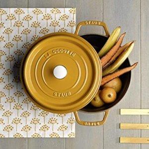 Staub Cast Iron 7-qt Round Cocotte - Saffron