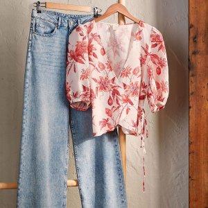 $39.99收封面同款牛仔阔腿裤H&M官网 在线独家精选牛仔裤热卖