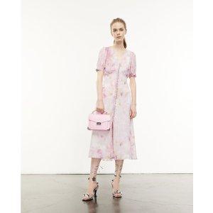 The Kooples0-3码!粉色印花连衣裙