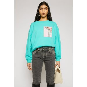 Acne StudiosDog-patch sweatshirt Turquoise blue