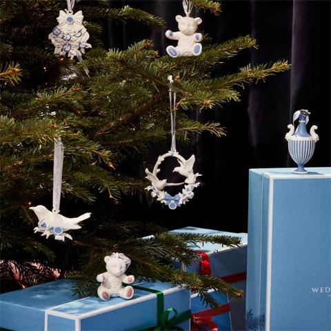 7折起 封面圣诞挂饰£24.5Wedgwood 圣诞大促 英国皇室瓷器罕见低价