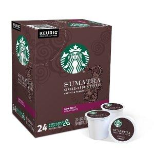 StarbucksSumatra Coffee, Keurig® K-Cup® Pods, Dark Roast, 24/Box (736089)
