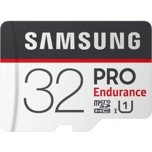 $9.89 (原价$24.99)Samsung PRO Endurance 32GB MicroSDXC 高耐久存储卡