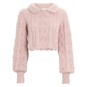 Berget 粉色短款毛衣