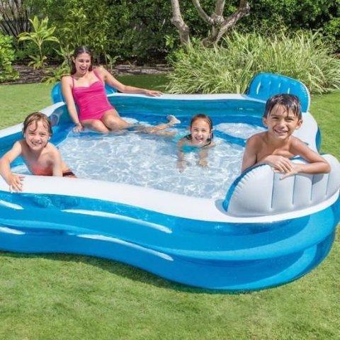 6.8折 €36.99就能抱回家INTEX  家庭4座充气泳池 在自己家里玩水想想就超过瘾