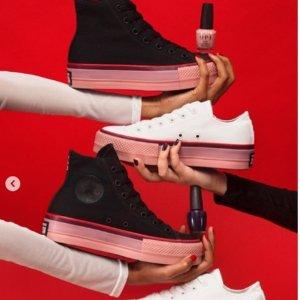 低至5折 收封面OPI合作款Converse 折扣区经典帆布鞋热卖 柠檬黄、香芋紫等多色可选
