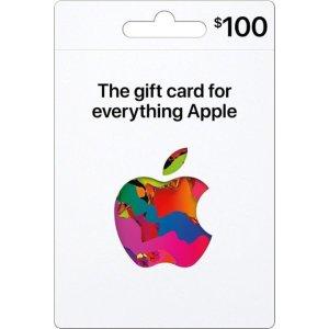 Apple实体版 Apple 礼卡 面值$100