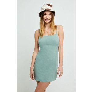 LA HeartsTie Back Linen Shift Dress