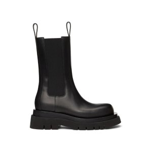 Bottega Veneta美国定价$1150 码全Black 'The Lug' 短靴