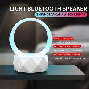 $10.89(原价$24.89)Rnehon LED蓝牙智能音箱灯 边化妆边听歌