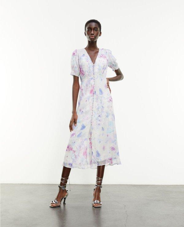 法式油画连衣裙