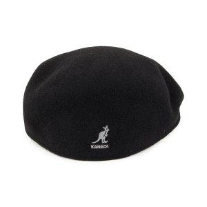 经典 504 Wool Flat Cap - Black