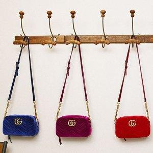8折 封面款丝绒相机包$992收最后一天:Gucci, Prada, Marni 等大牌专场,YSL卡包$300收