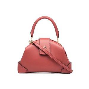 Manu Atelierpink Demi top handle leather shoulder bag