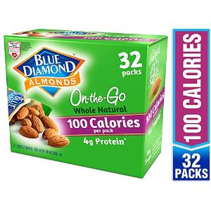 $7.98 一袋仅$0.2 美亚精品白菜价:Blue Diamond 原味大杏仁随身装 32袋