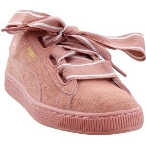 PumaSuede Heart Satin II 粉色蝴蝶结女鞋