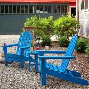 低至6.5折 $164起限今天:Amazon 精选Polywood 庭院休闲椅一日特卖 多色可选