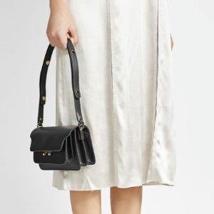 $1245MARNI Trunk Leather Shoulder Bag @ Stylebop