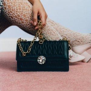 满额75折 £536收经典链条包Miu Miu 包包、墨镜、美鞋服饰闪促热卖