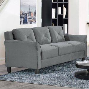 $299Lifestyle Solutions Ireland Sofa in Dark Grey Fabric