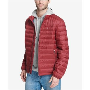 Tommy HilfigerMen's Down Quilted Packable Logo Jacket