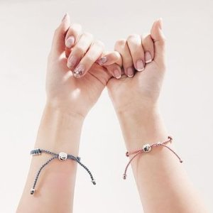 Links of LondonSterling Silver & Baby Blue Mini Friendship Bracelet