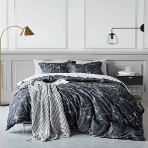 from $14Bedsure Duvet Cover Set with Zipper Closure-Printed Marble Design,Twin