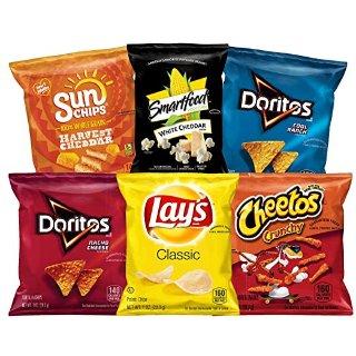 $10.02 一包只需$0.27Frito-Lay 薯片多口味混合装 35包装