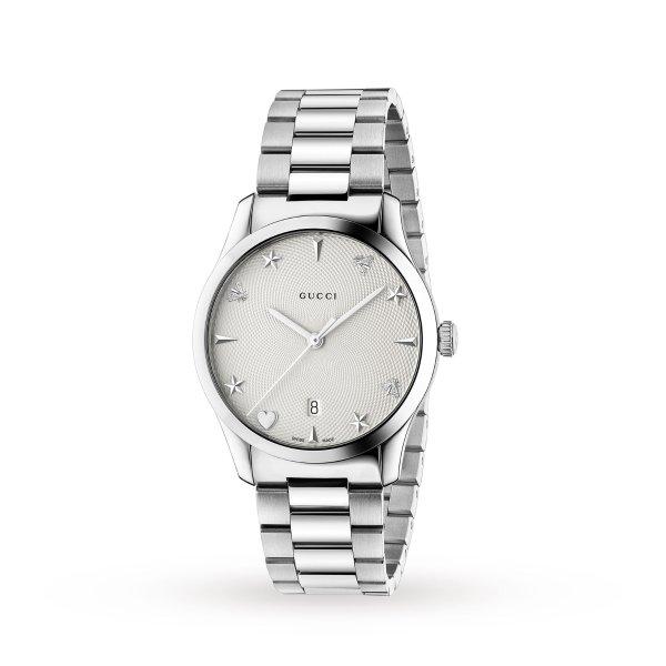 G-Timeless 银色手表