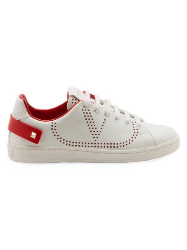 V字小白鞋