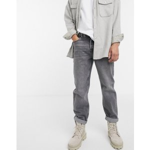 Topmanrelaxed fit灰色牛仔