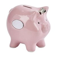 陶瓷小粉猪存钱罐