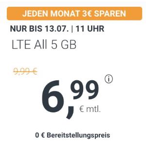 月租仅€6.99 减免€19.99接通费立省€92!包月所有电话/短信+5GB上网+欧盟漫游