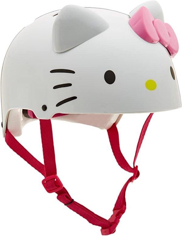 哈喽凯蒂自行车头盔