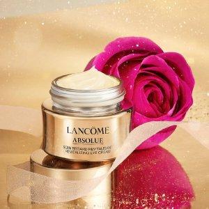 购单瓶即赠6件套 (价值$210+)Lancome 菁纯黄金系列 面霜塑造紧致小V脸,眼霜实力眼纹克星
