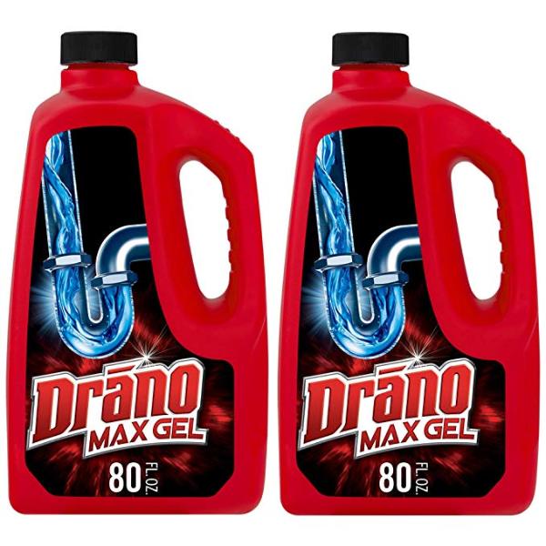 Drano 下水道凝胶疏通剂 80oz 2瓶