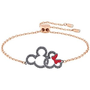 34034508c Swarovski Iconic Swan Necklace, White, Rhodium plating. Jewelry.  SwarovskiMickey & Minnie Bracelet, Multi-colored, Mixed Plating