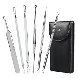 $7.19Anjou 黑头粉刺针祛除 6件套 送带镜子的收纳袋