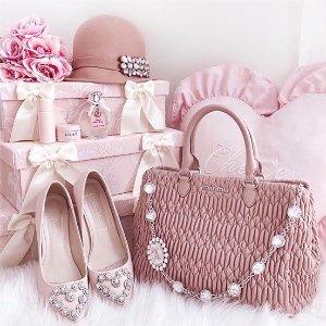 低至5折+额外7折Miu Miu 少女感专场热卖 收bling bling仙女芭蕾鞋、淑女风美衣