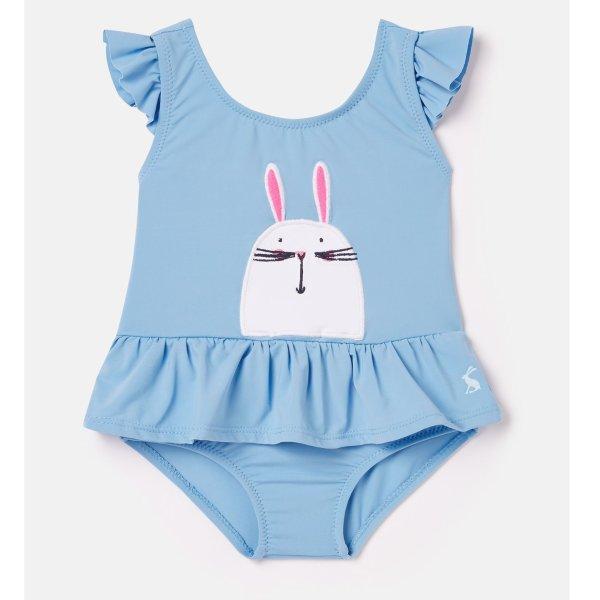 婴儿小兔贴布绣泳衣