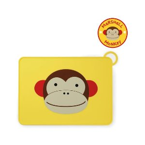 skiphopZoo Fold & Go Silicone Kids Placemat