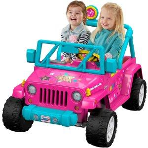 $261.3(原价$398.99)Power Wheels 儿童芭比牧马人 宽敞后置储物区 溜娃装备