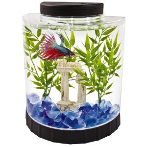 $18.79 (原价$22.09)Tetra LED 1.1加仑 Betta 半月形鱼缸/水族箱