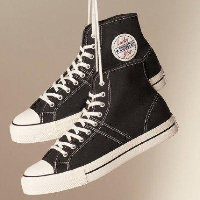 无门槛7折 £45收扇贝边帆布鞋