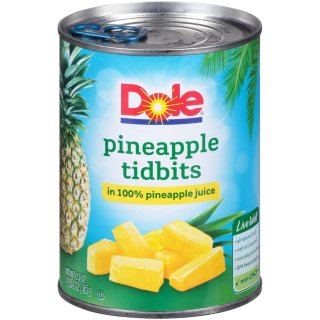 $14.59DOLE Pineapple Tidbits in 100% Pineapple Juice, 20 oz. (Pack of 12)