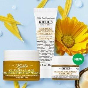 满£60送封面金盏花3件套闪购:Kiehl's护肤品热卖中 收白泥、美白精华、高保湿面霜
